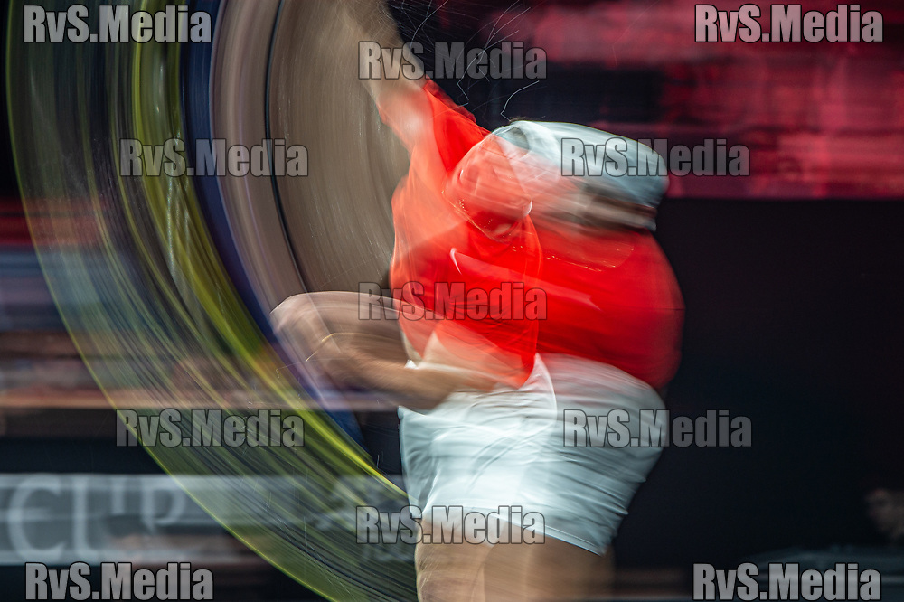 GENEVA, SWITZERLAND - SEPTEMBER 22: Jack Sock of Team World serves during Day 3 of the Laver Cup 2019 at Palexpo on September 20, 2019 in Geneva, Switzerland. The Laver Cup will see six players from the rest of the World competing against their counterparts from Europe. Team World is captained by John McEnroe and Team Europe is captained by Bjorn Borg. The tournament runs from September 20-22. (Photo by Robert Hradil/RvS.Media)