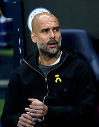 Manchester City manager Pep Guardiola during the UEFA Champions League, Quarter Final at the Etihad Stadium, Manchester.