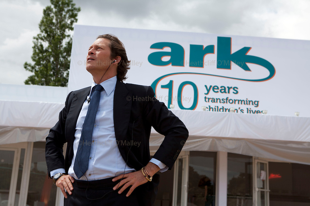 Hal0032191 . Sunday Telegraph..Arki Busson, Swiss financier, philanthropist and trustee of the children's charity ARK (Absolute Return for Kids), the fundraising gala of which is tonight in Kensington palace gardens...9 June 2011 London