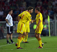 Photo: Chris Ratcliffe.<br /> PSV Eindhoven v Liverpool. UEFA Champions League, Group C. 12/09/2006.<br /> Steven Gerrard of Liverpool finally comes on for Craig Bellamy.