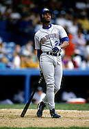 UNDATED:  Ken Griffey Jr. of the Seattle Mariners bats during a game at Tiger Stadium in Detroit, Michigan during the early 1990's.   (Photo by Ron Vesely)