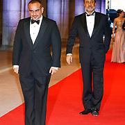 NLD/Amsterdam/20130429- Afscheidsdiner Konining Beatrix Rijksmuseum, crownprince Salman bin Hamad al Khalifa of Bahrein and Haitham bin Tareq el Said of Oman