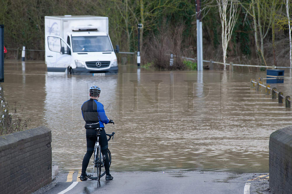 ©Licensed to London News Pictures 21/12/2019. <br /> Yalding ,UK. A broken down van in flood water 3ft high on the Lees Road, Yalding. The River Medway in Yalding, Kent has bursts its banks causing severe flooding to the village.   Photo credit: Grant Falvey/LNP