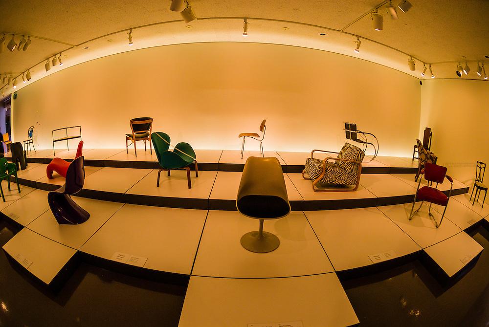 Chair design collection, Northern Building, Denver Art Museum, Civic Center Cultural Complex, Denver, Colorado USA
