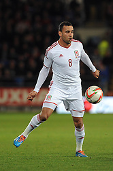Hal Robson-Kanu of Wales (Reading) - Photo mandatory by-line: Dougie Allward/JMP - Tel: Mobile: 07966 386802 03/03/2014 -