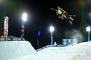 Roz Groenewoud during Women's Ski SuperPipe Finals at the 2013 X Games Tignes in Tignes, France. ©Brett Wilhelm
