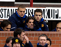 Photo: Jed Wee.<br /> Manchester United v Newcastle United. The Barclays Premiership. 12/03/2006.<br /> <br /> Manchester United's Ruud van Nistelrooy looks frustrated as he starts a third successive game on the bench.
