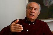 Israeli writer, Eli Amir (Born September 26, 1937) at his home in Jerusalem. On March 7, 2007.