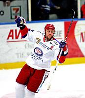 Ishockey , 04. oktober 2007 , GET-Ligan , Sparta - Vålerenga , Lars Erik Lund Vålerenga , Lund jubler etter å ha satt inn 3-0 for VIF , Foto: Thomas Andersen , Digitalsport