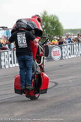 Chuck Malot in the Bell Brawl motorcycle stunt show at the Crossroads area of the Buffalo Chip during the Sturgis Black Hills Motorcycle Rally. Sturgis, SD, USA. Sunday, August 4, 2019. Photography ©2019 Michael Lichter.The Bell Brawl motorcycle stunt show at the Crossroads area of the Buffalo Chip during the Sturgis Black Hills Motorcycle Rally. Sturgis, SD, USA. Sunday, August 4, 2019. Photography ©2019 Michael Lichter.