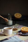Tea with milk and honey by Rodney Bedsole, a food photographer based in Nashville. Inspired by the short story Undertaker Please Drive Slow  by Joann Beard.