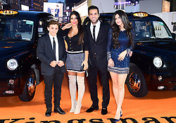 Joseph Taktouk, Daniella Semaan, Cesc Fabregas and Maria Taktouk attending the World Premiere of Kingsman: The Golden Circle, at Cineworld in Leicester Square, London. Picture Date: Monday 18 September. Photo credit should read: Ian West/PA Wire