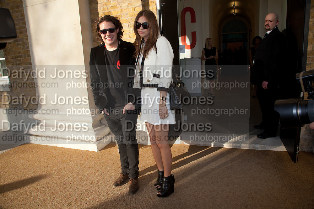 ADAM WAYMOUTH; DASHA ZHUKOVA; Phillips de Pury and Company.- BRIC- Exhibition and auction celebrating Brazil, Russia, India and China at the Saatchi Gallery. London.  17 April 2010.