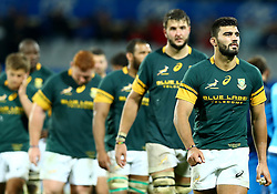 November 19, 2016 - Rome, Italy - The delusion of Damian de Allende (S) and the teammates at the end of the match  during the international match between Italy v South Africa at Stadio Olimpico on November 19, 2016 in Rome, Italy. (Credit Image: © Matteo Ciambelli/NurPhoto via ZUMA Press)