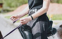 THEMENBILD - eine junge Frau sitzt im Sattel im Detail, aufgenommen am 01. Mai 2020 in Kaprun, Oesterreich // a young woman sits in the saddle in detail in Kaprun, Austria on 2020/05/01, Kaprun, Austria. EXPA Pictures © 2020, PhotoCredit: EXPA/ Stefanie Oberhauser