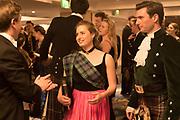 SAMUEL RICHARDS; SARAH MIDDLETON; LUCAS HAMILTON-EDDY, The 170th Royal Caledonian Ball 2018. In aid of various Scottish charities. Grosvenor House Hotel. 4 May 2018