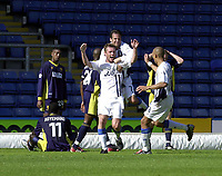 Photo: Greig Cowie.<br /> 13/09/2003.<br /> Nationwide League Division 1. Wimbledon v Wigan Athletic, Selhurst Park.<br /> Geoff Horsfield celebrates Wigans third of the afternoon