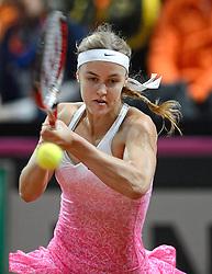 08-02-2015 NED: Fed Cup Nederland - Slowakije, Apeldoorn<br /> Anna Schmiedlova
