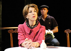 Life After Scandal<br /> by Robin Soans<br /> at the Hampstead Theatre, London, Great Britain<br /> press photocall<br /> 21st September 2007<br /> <br /> Geraldine Fitzgerald (as Edwina Currie) and Simon Coates (as Duncan Roy)<br /> <br /> Photograph by Elliott Franks