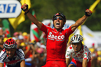 Sykkel<br /> Tour de France 2003<br /> Foto: DPPI/Digitalsport<br /> <br /> NORWAY ONLY<br /> <br /> CYCLING - TOUR DE FRANCE 2003 - STEP14 - SAINT-GIRONS > LOUDENVIELLE-LE LOURON - 20072003 - PHOTO: ERIC LALMAND / PHOTO NEWS / DPPI<br /> GILBERTO SIMONI (ITA) / SAECO