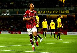 Bobby Reid of Bristol City celebrates scoring a goal to make it 2-1 - Mandatory by-line: Robbie Stephenson/JMP - 22/08/2017 - FOOTBALL - Vicarage Road - Watford, England - Watford v Bristol City - Carabao Cup