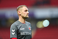 Charlton Athletic defender Patrick Bauer (5) warms up prior to the EFL Sky Bet League 1 match between Charlton Athletic and Bristol Rovers at The Valley, London, England on 24 November 2018.