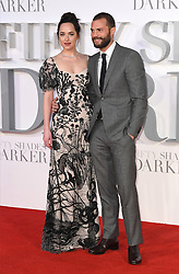 Dakota Johnson and Jamie Dornan arriving for the Fifty Shades Darker European Premiere held at Odeon Leicester Square, London. Picture date: Thursday February 9, 2017
