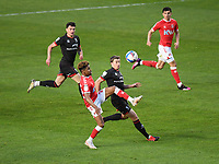 Football - 2020 / 2021 Sky Bet League One - Charlton Athletic vs Lincoln City - The Valley<br /> <br /> Charlton Athletic's Ian Maatsen battles for possession with Lincoln City's James Jones.<br /> <br /> COLORSPORT/ASHLEY WESTERN