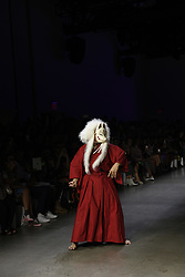 September 12, 2018 - New York, New York, U.S - September, 2018 - New York, New York  U.S. - A costumed performer opens the DAN LIU S/S 2019 RTW show during New York Fashion Week 2018.  (Credit image (c) Theano Nikitas/ZUMA Wire/ZUMAPRESS.com (Credit Image: © Theano Nikitas/ZUMA Wire)