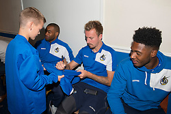 Chris Lines signs autographs for fans at a Bristol Rovers Open Day at the Memorial Stadium - Mandatory by-line: Dougie Allward/JMP - 07966386802 - 26/07/2015 - SPORT - FOOTBALL - Bristol,England - Memorial Stadium - Bristol Rovers Open Day - Bristol Rovers Open Day