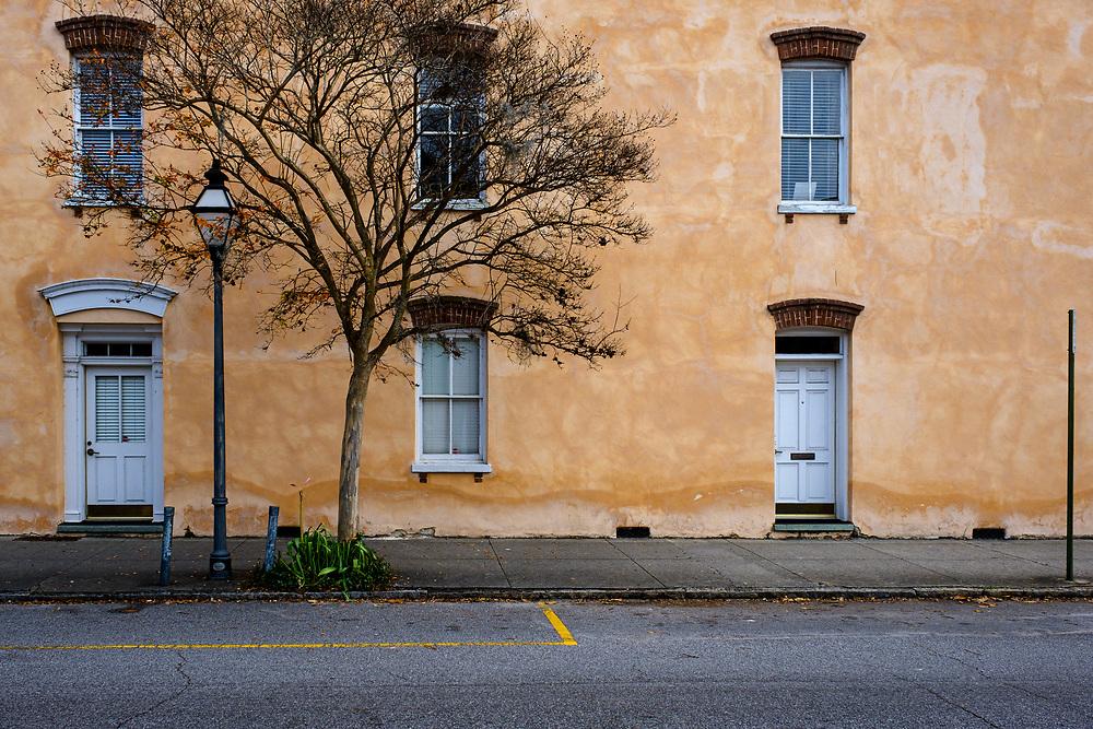 CHARLESTON, SOUTH CAROLINA - CIRCA DECEMBER 2019: Empty street in the French Quarter of Charleston