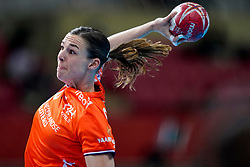 06-12-2019 JAP: Norway - Netherlands, Kumamoto<br /> Last match groep A at 24th IHF Women's Handball World Championship. / The Dutch handball players won in an exciting game of fear gegner Norway and wrote in the last group match at the World Handball  World Championship history (30-28). / Inger Smits #20 of Netherlands
