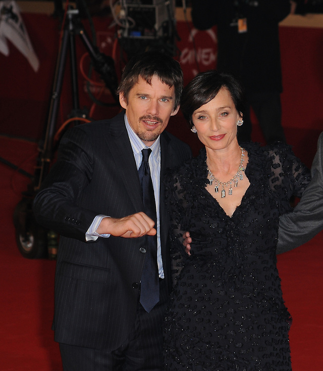 """Pawel Pawlikowski, Ethan Hawke, Kristin Scott Thomas attend the photocall of """"The Woman in the Fifth"""" during the 6th International Rome Film Festival..October 30, 2011, Rome, Italy.Picture: Catchlight Media / Featureflash"""