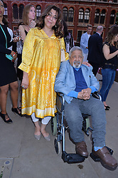 V. S. Naipaul and his wife Nadira at the V&A Summer Party in association with Harrod's held at The V&A Museum, London on 22nd June 2016.