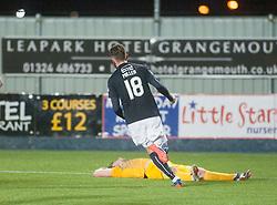 Falkirk's Lee Miller cele scoring their goal. Falkirk 1 v 1 Morton, Scottish Championship game played 5/11/2016 at The Falkirk Stadium. Pic Ross Schofield.