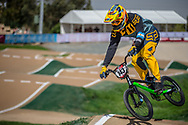 #143 (TORRES Nicolas) ARG at Round 1 of the 2020 UCI BMX Supercross World Cup in Shepparton, Australia