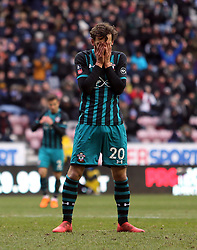 Southampton's Manolo Gabbiadini rues a missed chance