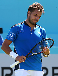 June 18, 2018 - London, England, United Kingdom - Stan Wawrinka (SUI).during Fever-Tree Championships 1st Round match between Cameron Norrie (GBR) against Stan Wawrinka (SUI)  at The Queen's Club, London, on 18 June 2018  (Credit Image: © Kieran Galvin/NurPhoto via ZUMA Press)
