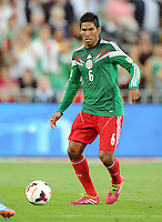 Mexico's Juan Carlos Valenzuela against New Zealand in the World Cup Football qualifier, Westpac Stadium, Wellington, New Zealand, Wednesday, November 20, 2013.