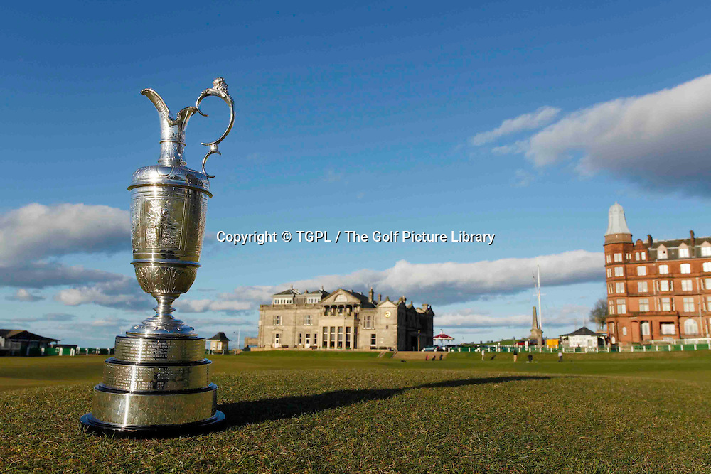 The famous Claret Jug trophy played for each summer for The Open Championship over a rota of links courses across Great Britain and Ireland during sring at St Andrews Old Course,<br /> St Andrews,Fife,Scotland.