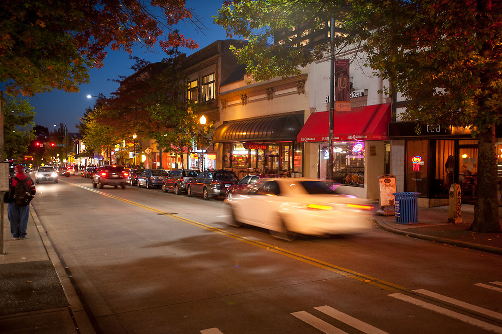 2016 October 10 - University Way in the University District, Seattle, WA, USA. By Richard Walker