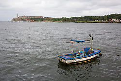 Boat With El Morro In The Background