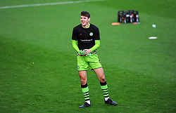 Liam Kitching of Forest Green Rovers prior to kick off - Mandatory by-line: Nizaam Jones/JMP - 31/10/2020 - FOOTBALL - Jonny-Rocks Stadium - Cheltenham, England - Cheltenham Town v Forest Green Rovers - Sky Bet League Two