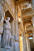 """Ephesus, Turkey: the Library of Celsus, built in 114 AD, was named in honor of a Roman .governor of Asia Minor (Anatolia). The nearby goddess sanctuary helped Ephesus become a prosperous port and cultural center by 600 BCE. At various times, Ephesus was controlled by Lydia (King Croesus), Persians, Hellenists (Ancient Greeks from Athens), Alexander the Great (334 BC), and eventually it became capital (population 250,000) of the Roman Province of Asia Minor. Published in the travel handbook """"Moon Istanbul & the Turkish Coast"""" by Jessica Tamtürk, Avalon Travel Publishing, 2010. Published in """"Light Travel: Photography on the Go"""" book by Tom Dempsey 2009, 2010. test"""