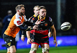 Cheetahs' Tian Meyer in action during todays match<br /> <br /> Photographer Craig Thomas/Replay Images<br /> <br /> Guinness PRO14 Round 18 - Dragons v Cheetahs - Friday 23rd March 2018 - Rodney Parade - Newport<br /> <br /> World Copyright © Replay Images . All rights reserved. info@replayimages.co.uk - http://replayimages.co.uk