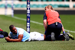 Joe Cokanasiga of England picks up an injury during training at Twickenham ahead of the upcoming tour of Argentina - Mandatory by-line: Robbie Stephenson/JMP - 02/06/2017 - RUGBY - Twickenham - London, England - England Rugby Training
