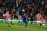 Pedro of Chelsea © in action. Premier league match, Stoke City v Chelsea at the Bet365 Stadium in Stoke on Trent, Staffs on Saturday 18th March 2017.<br /> pic by Andrew Orchard, Andrew Orchard sports photography.