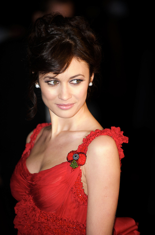 London.  October 29, 2008.  Actress Olga Kurylenko  attends the world premiere of 'Quantum of Solace,' the 22nd film in the James Bond franchise, at the Odeon Theater in Leicester Square on October 29, 2008.  (Photo by Mark Bryan Makela)