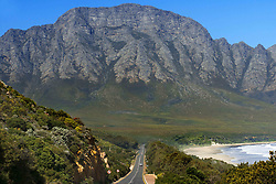 September 30, 2018 - South Africa - Driving on the R44 road at Koeel Beach on the east of False Bay in the Western Cape South Africa Popular location for boarding (Credit Image: © Sergi Reboredo/ZUMA Wire)