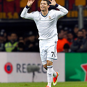 Real Madrid's Cristiano Ronaldo celebrate his goal during their UEFA Champions League Quarter-finals, Second leg match Galatasaray between Real Madrid at the TT Arena AliSamiYen Spor Kompleksi in Istanbul, Turkey on Tuesday 09 April 2013. Photo by Aykut AKICI/TURKPIX